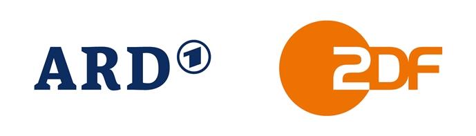 """ZDF und ARD Weiterer Text über ots und www.presseportal.de/nr/7840 / Die Verwendung dieses Bildes ist für redaktionelle Zwecke honorarfrei. Veröffentlichung bitte unter Quellenangabe: """"obs/ZDF/Corporate Design"""""""